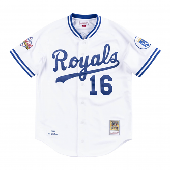 Bo Jackson Kansas City Royals Mitchell & Ness Authentic 1989 Button Up Jersey