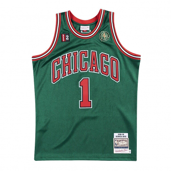 Derrick Rose Chicago Bulls Mitchell & Ness Authentic 2008 Alternate NBA Jersey - Green
