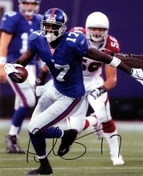 Plaxico Burress Signed 8x10 New York Giants