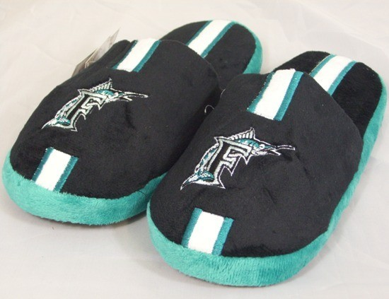 Florida Marlins MLB Team Stripe Slide Slippers