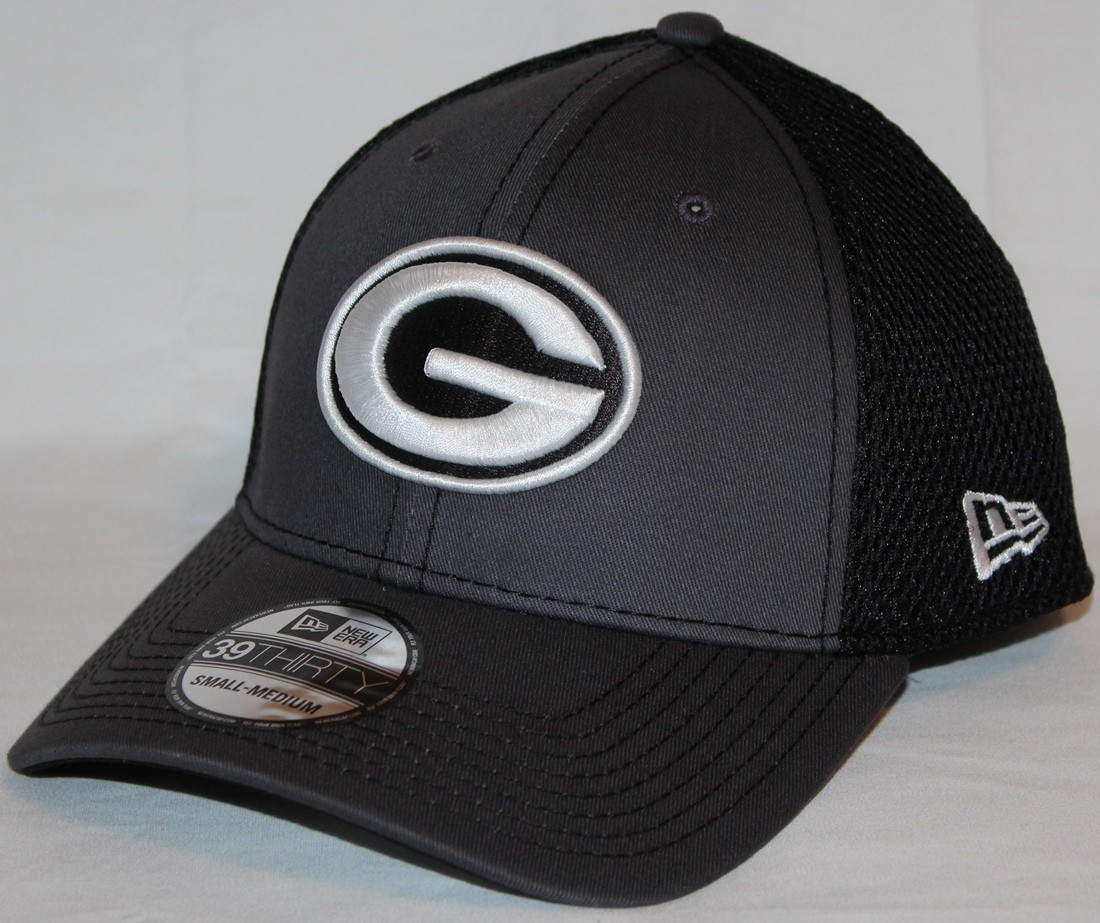 the latest 4f015 51d80 ... purchase green bay packers new era nfl 39thirty gray black neo flex fit  hat c4b4a 39dbd