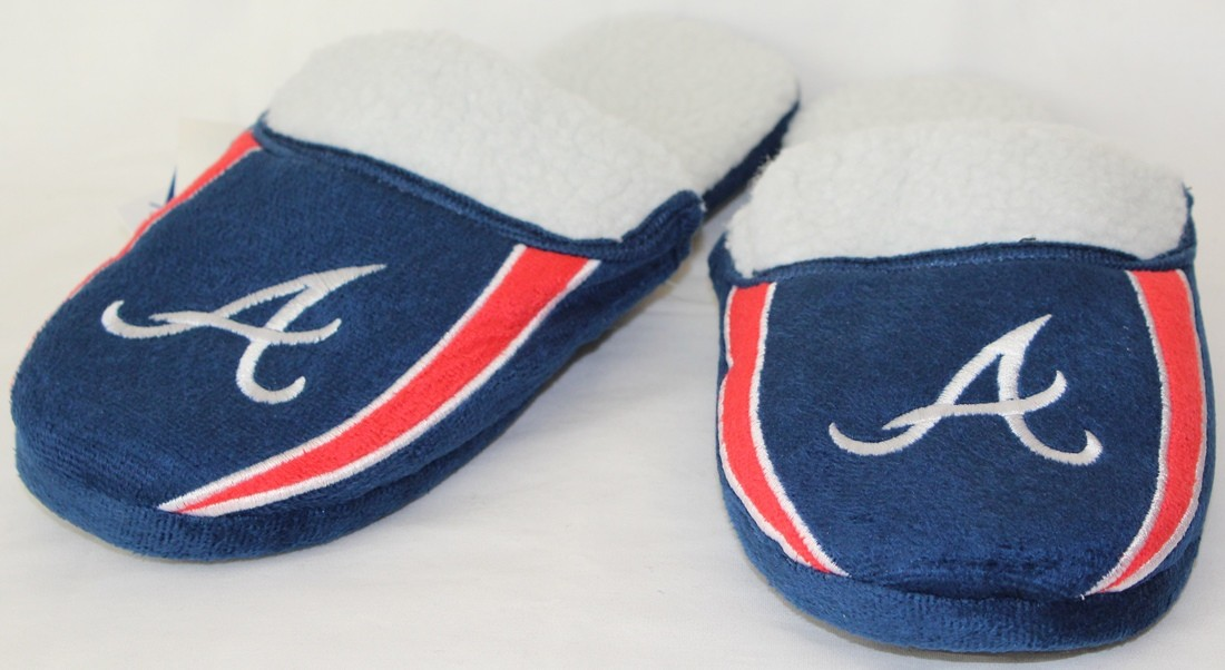 Atlanta Braves MLB 2013 Men's Sherpa Slide Slippers