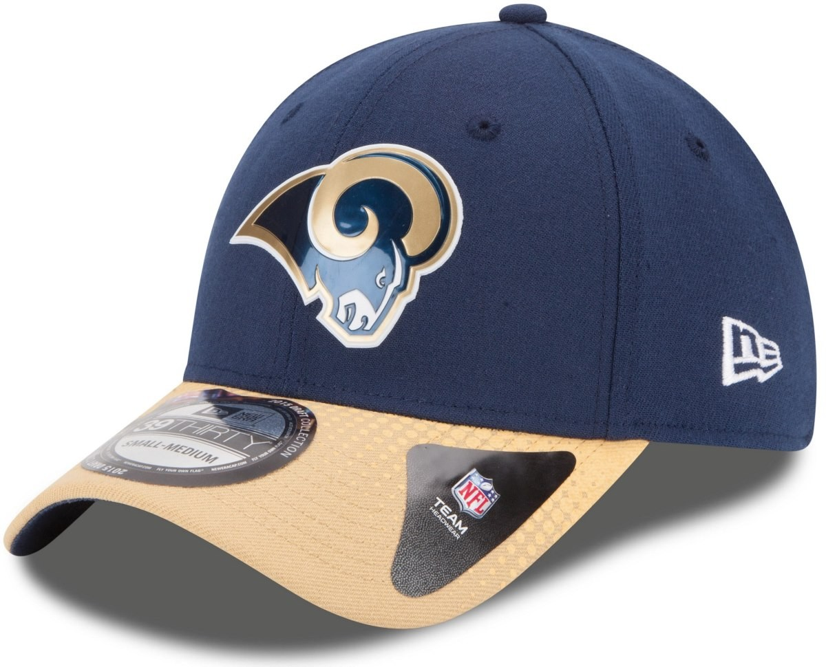 15046d431 St. Louis Rams New Era 39THIRTY 2015 Official Player Draft Day Flex Fit Hat