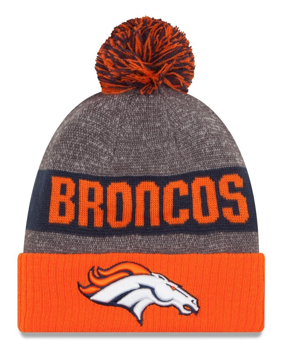 35722ba6d7adf8 Denver Broncos New Era 2016 NFL Sideline On Field Sport Knit Hat - Orange  Cuff