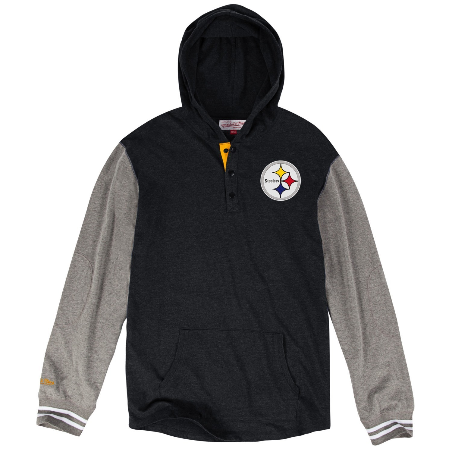 """Pittsburgh Steelers Mitchell & Ness NFL """"Mid-Season"""" L/S Hooded Men's Shirt"""