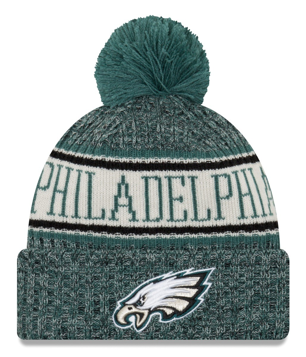 Philadelphia Eagles New Era 2018 NFL Sideline On Field Sport Knit Hat  Green