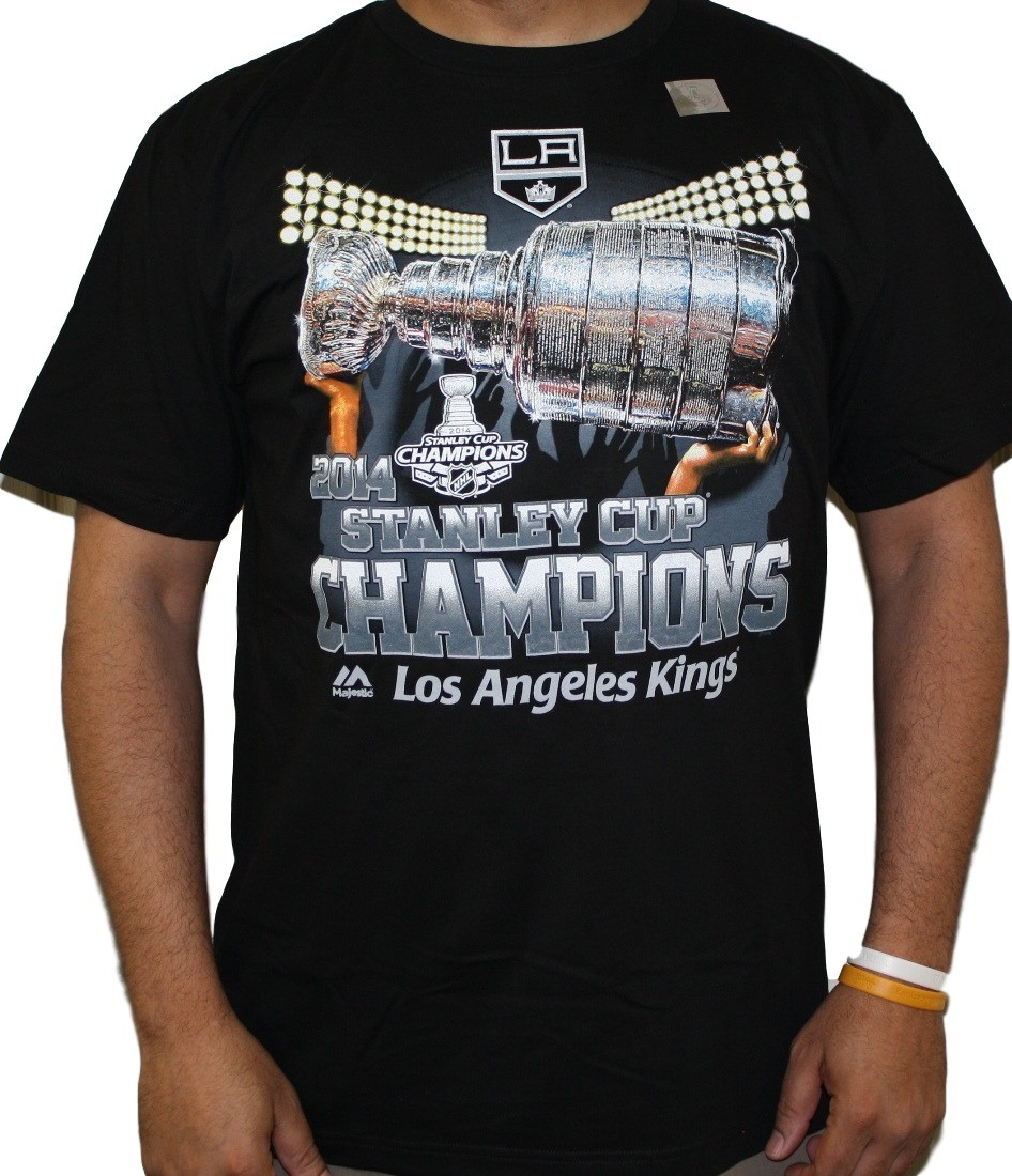 Los Angeles Kings 2012 Stanley Cup Finals Champions Black T Shirt NHL S BB3