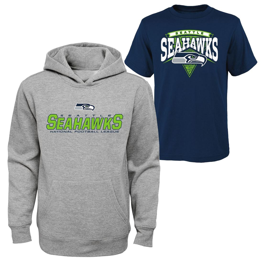 Buy Seattle Seahawks Youth Nfl Layered T Shirt Hooded Sweatshirt