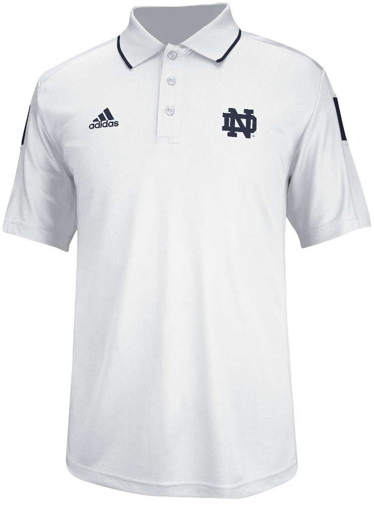 Notre Dame Fighting Irish Adidas 2014 Sideline Climalite Polo Shirt - White