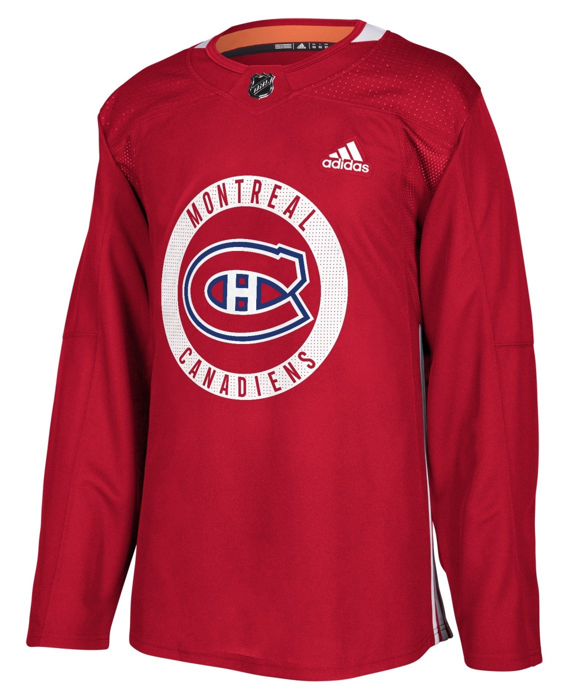 brand new d0d14 2b400 Details about Montreal Canadiens Adidas NHL Men's Climalite Authentic  Practice Jersey