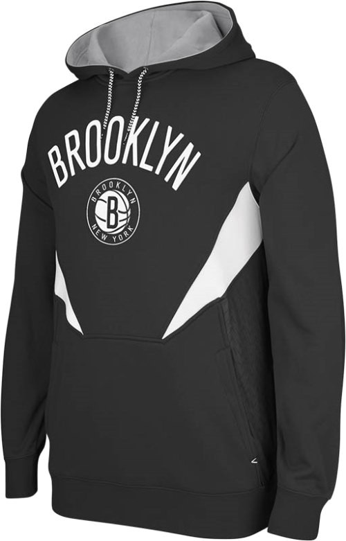 Brooklyn Nets Adidas 2013 NBA Resonate Performance Hooded Sweatshirt