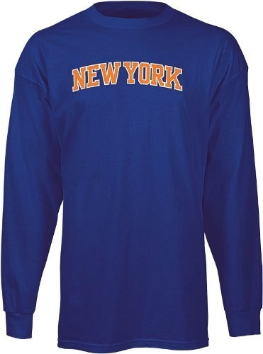 "New York Knicks Adidas NBA ""Dime"" Long Sleeve T-Shirt - Blue"