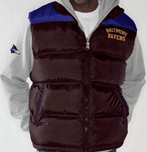 """Baltimore Ravens NFL """"Turf"""" Systems 3-in-1 Heavyweight Vest Jacket"""