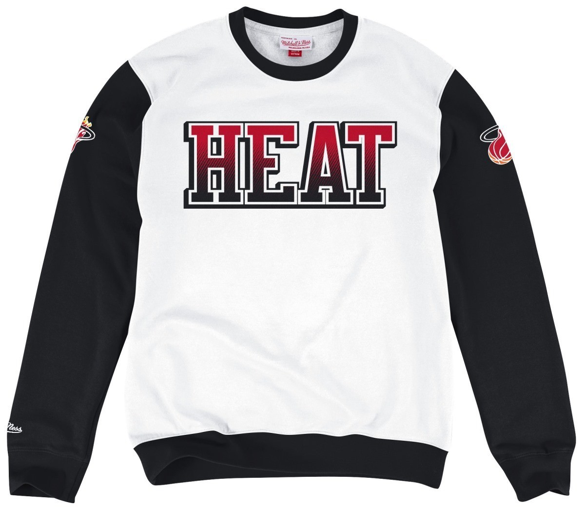 "Miami Heat Mitchell & Ness NBA ""Stop on a Dime"" Vintage Crew Sweatshirt"