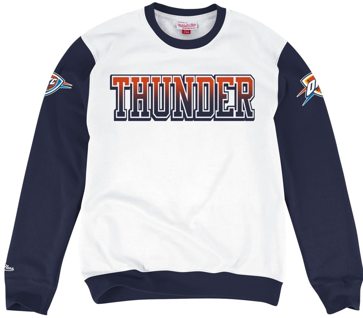 "Oklahoma City Thunder Mitchell & Ness ""Stop on a Dime"" Vintage Crew Sweatshirt"