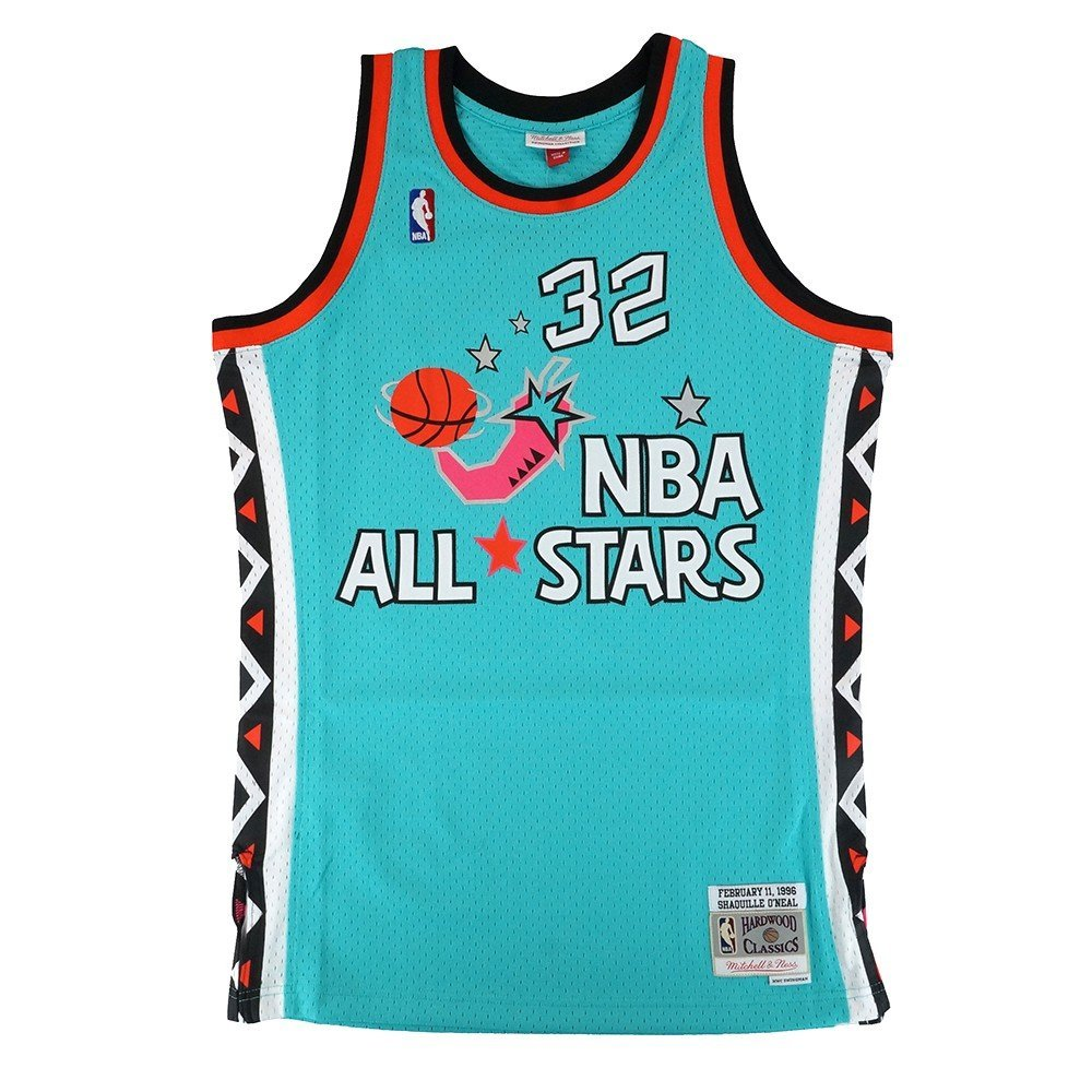 Details about Shaquille O Neal Magic Mitchell   Ness NBA 1996 All Star East  Swingman Jersey 21cbd9f8c
