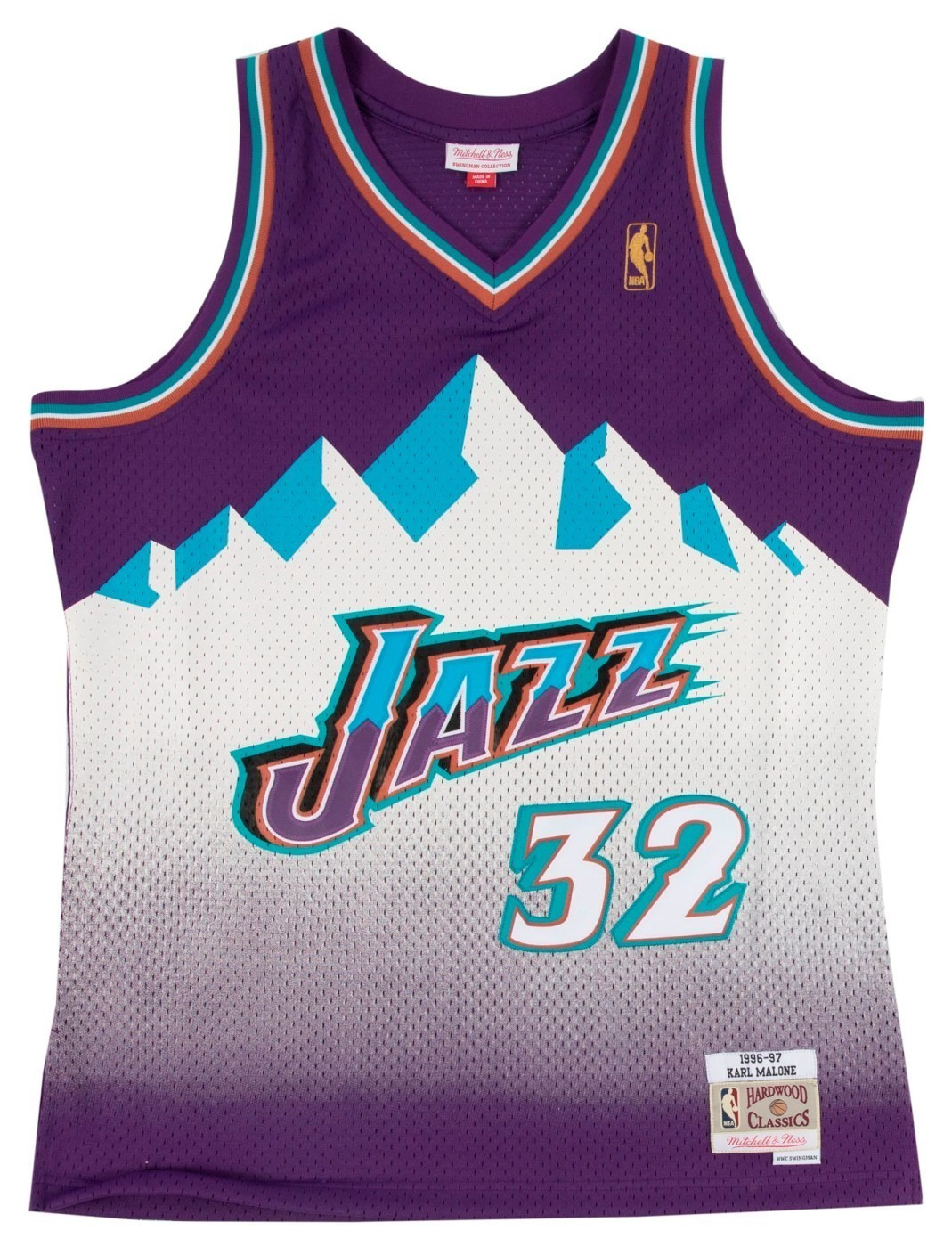 Karl Malone Utah Jazz Mountains Mitchell   Ness NBA Swingman HWC Jersey -  Purple 702f46877