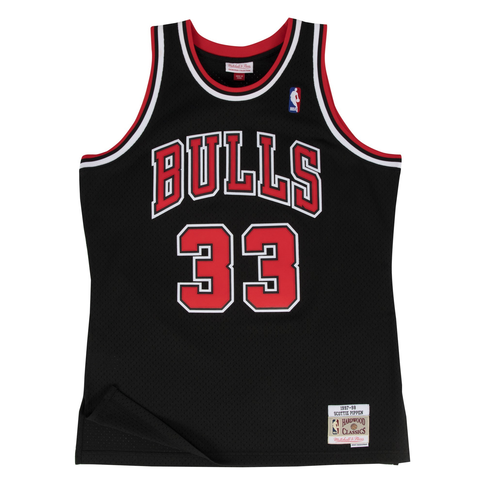 bf39e229d Details about Scottie Pippen Chicago Bulls Mitchell   Ness NBA Throwback  Jersey - Black