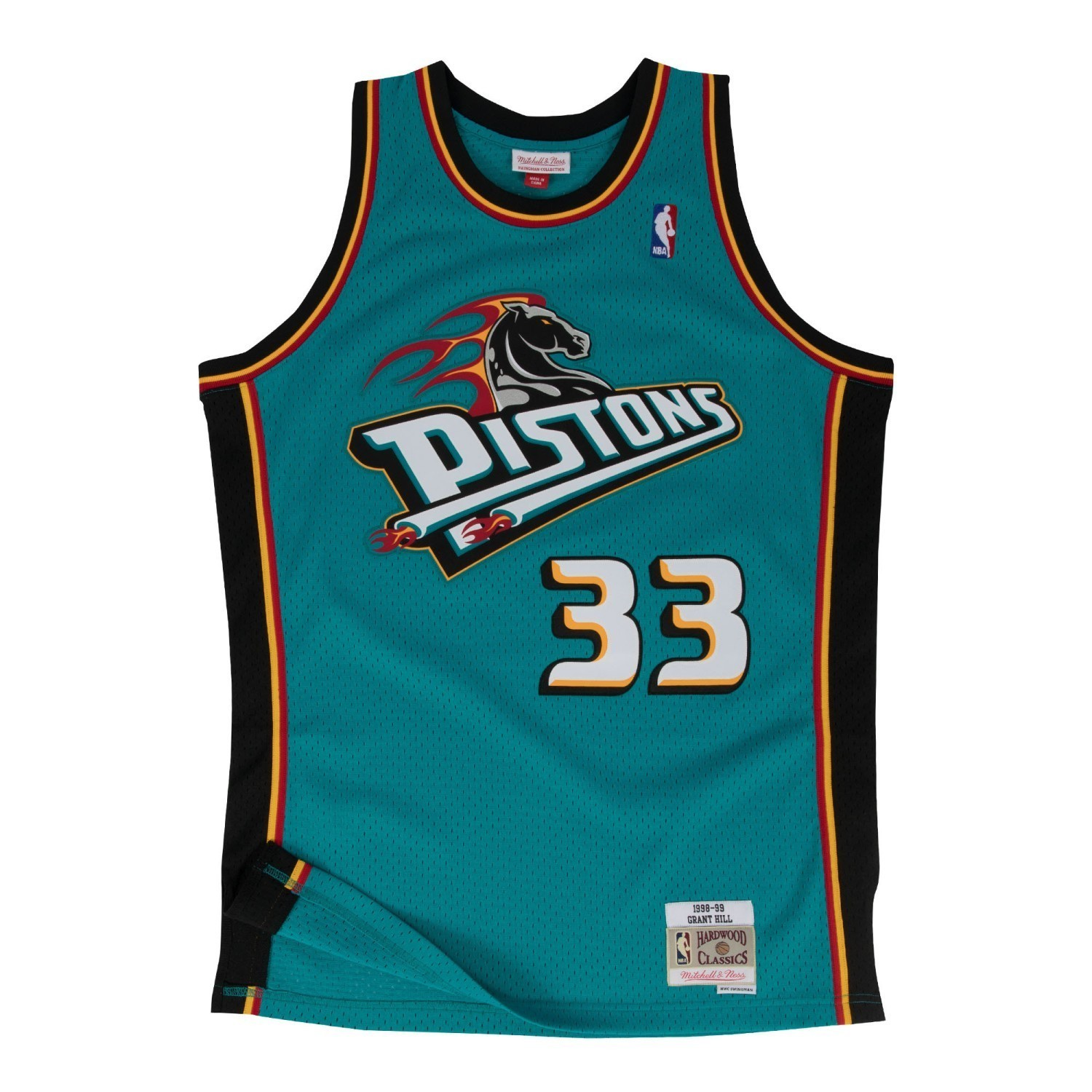 Details about Grant Hill Detroit Pistons Mitchell   Ness NBA Throwback  Jersey - Teal bd0f1a621