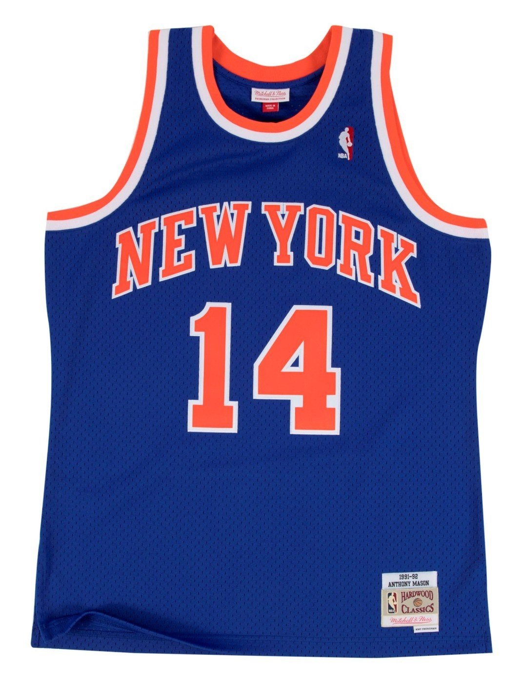 ba9f5ff56 Anthony Mason New York Knicks Mitchell   Ness NBA Swingman HWC Jersey - Blue