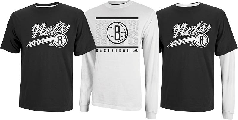 Brooklyn Nets NBA 2013 Adidas 3 in 1 T-Shirt Combo - 2 Shirts