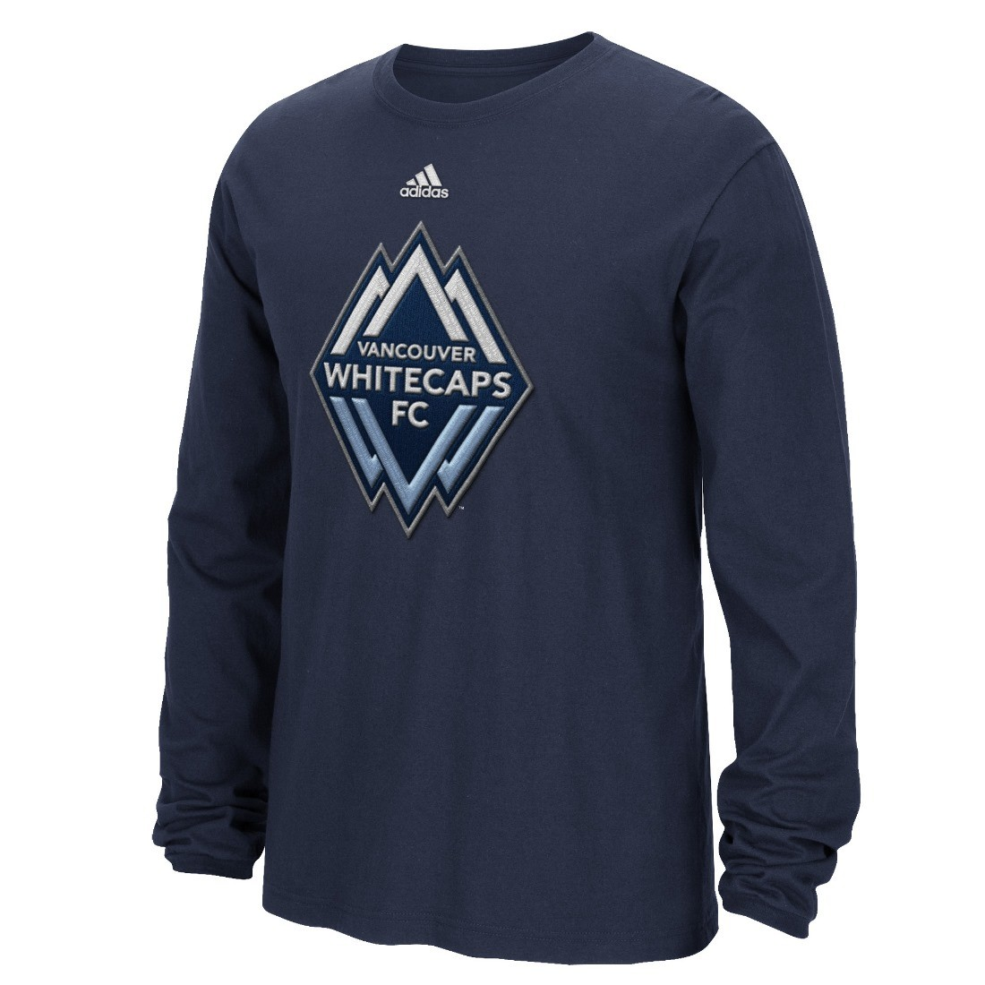 Vancouver whitecaps adidas mls high end patch men 39 s long for Vancouver t shirt printing