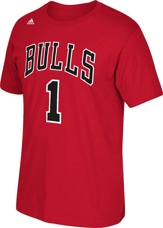 Derrick Rose Chicago Bulls NBA Adidas Player T-Shirt - Red