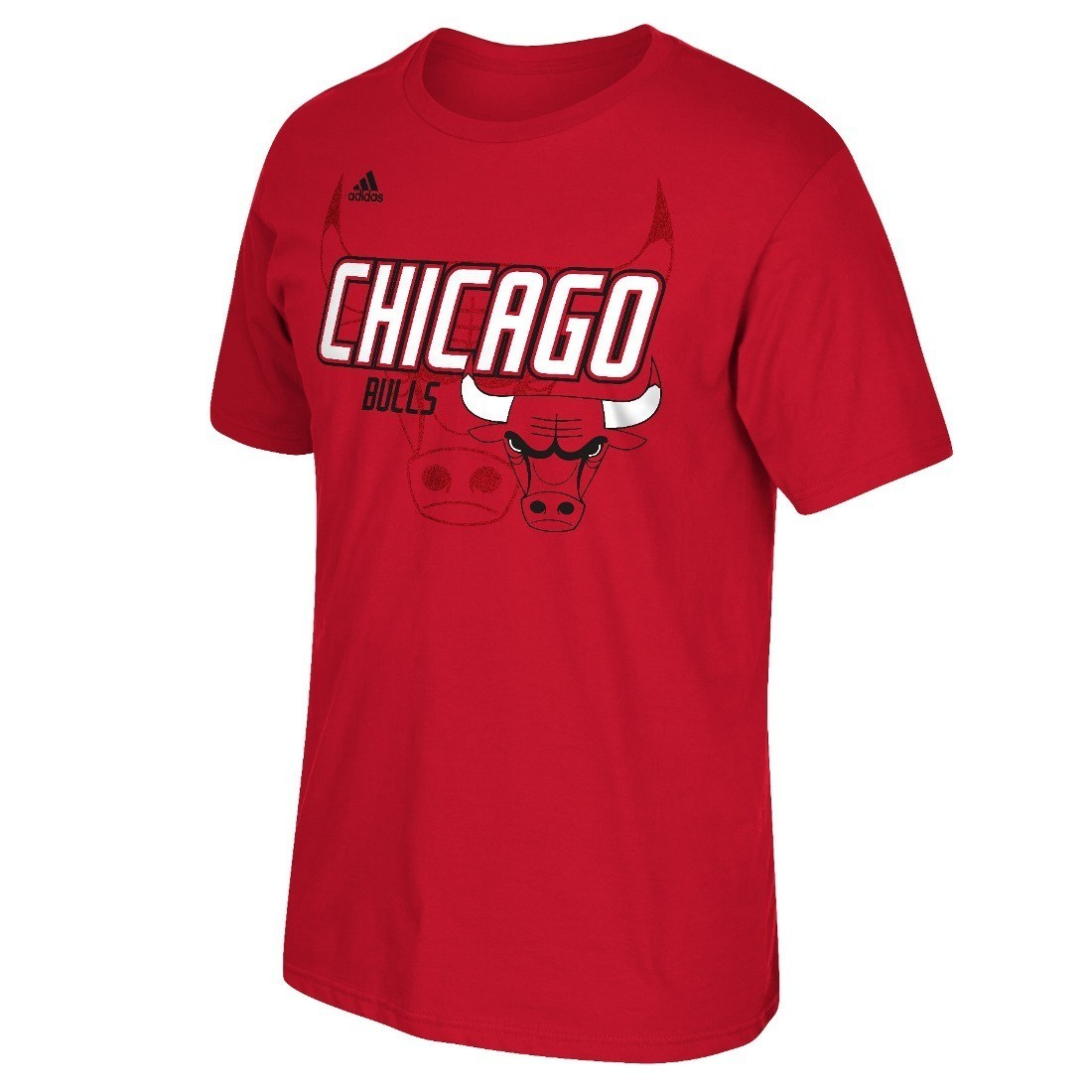 "Chicago Bulls Adidas NBA ""Distressed Back Logo"" Men's Short Sleeve T-Shirt"