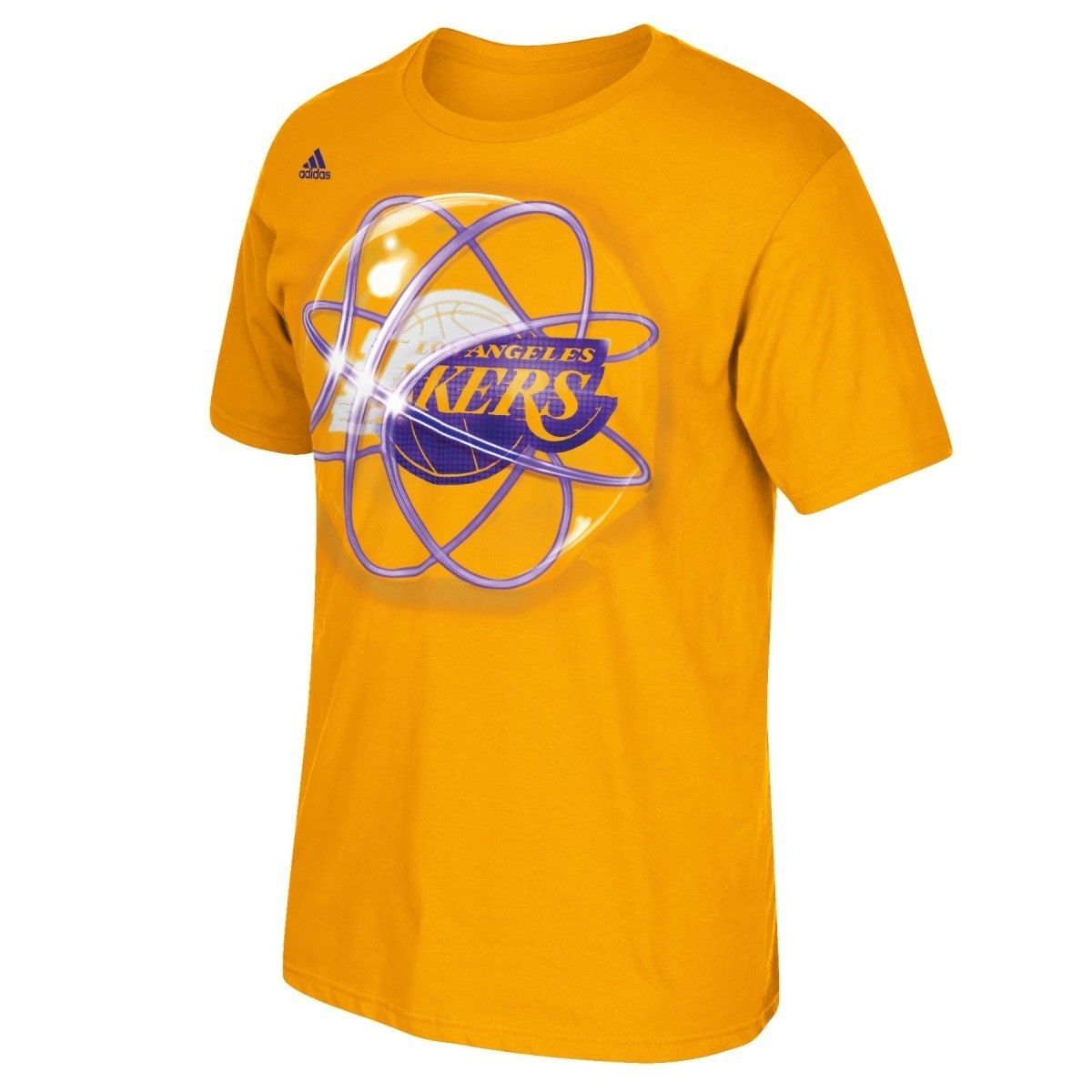 "Los Angeles Lakers Adidas NBA ""Horizons"" Premium Print S/S Men's T-Shirt"