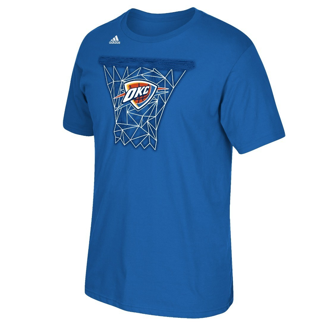 "Oklahoma City Thunder Adidas NBA ""Net Web"" Men's Short Sleeve T-Shirt"