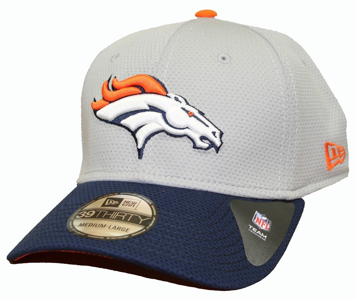 8f3bc94e Denver Broncos New Era NFL 39THIRTY Performance Gray Flex Fit Hat | eBay