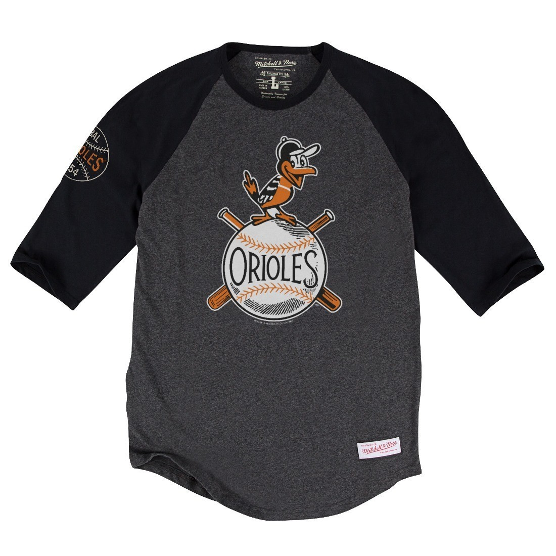 "Baltimore Orioles MLB Mitchell & Ness ""Top of the Inning"" Men's 3/4 Sleeve Shirt"