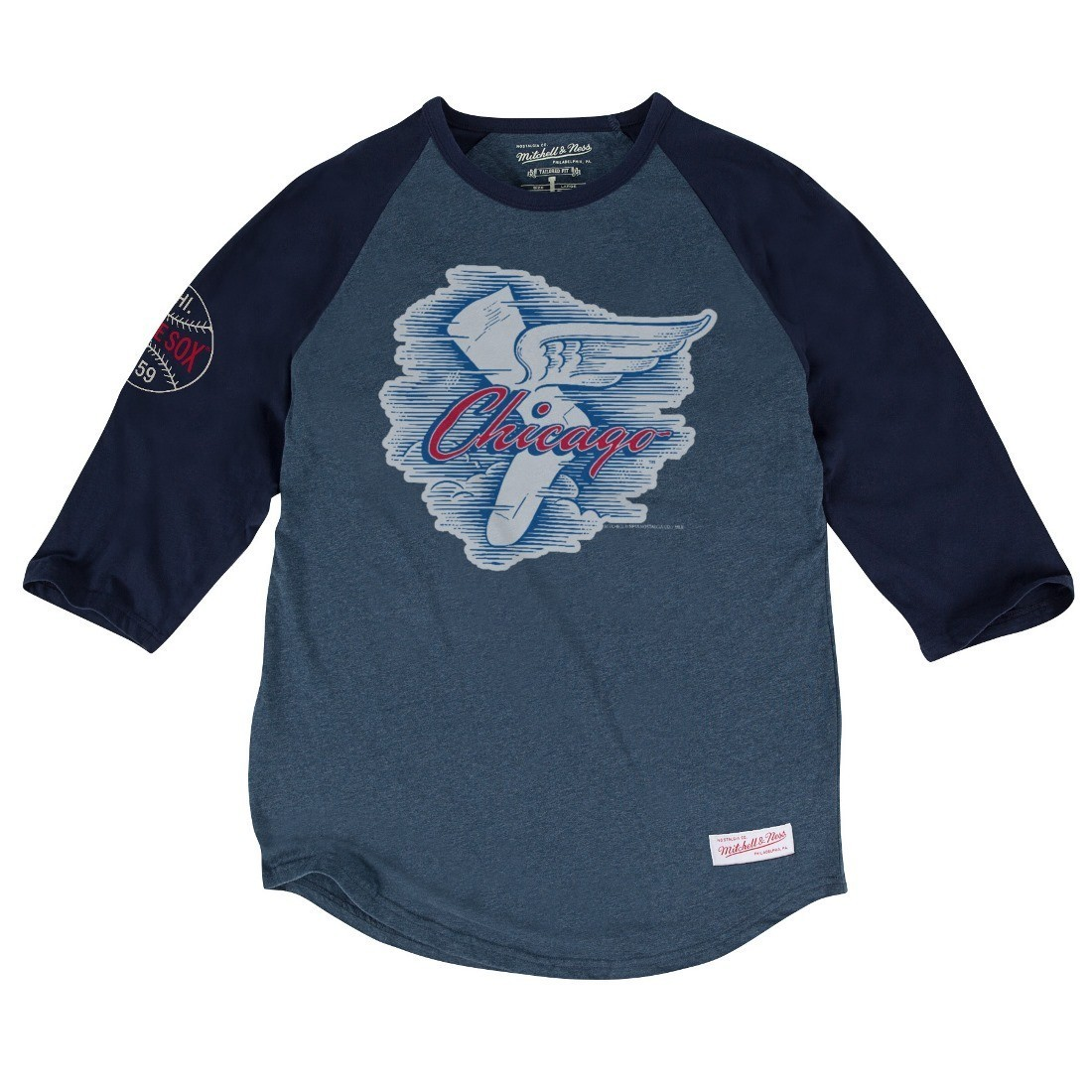 """Chicago White Sox MLB Mitchell & Ness """"Top of the Inning"""" Men's 3/4 Sleeve Shirt"""
