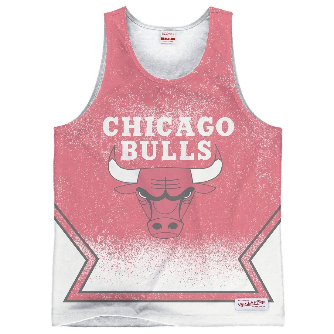 "Chicago Bulls Mitchell & Ness NBA ""Clock Violation"" Color Fade Tank Top Shirt"