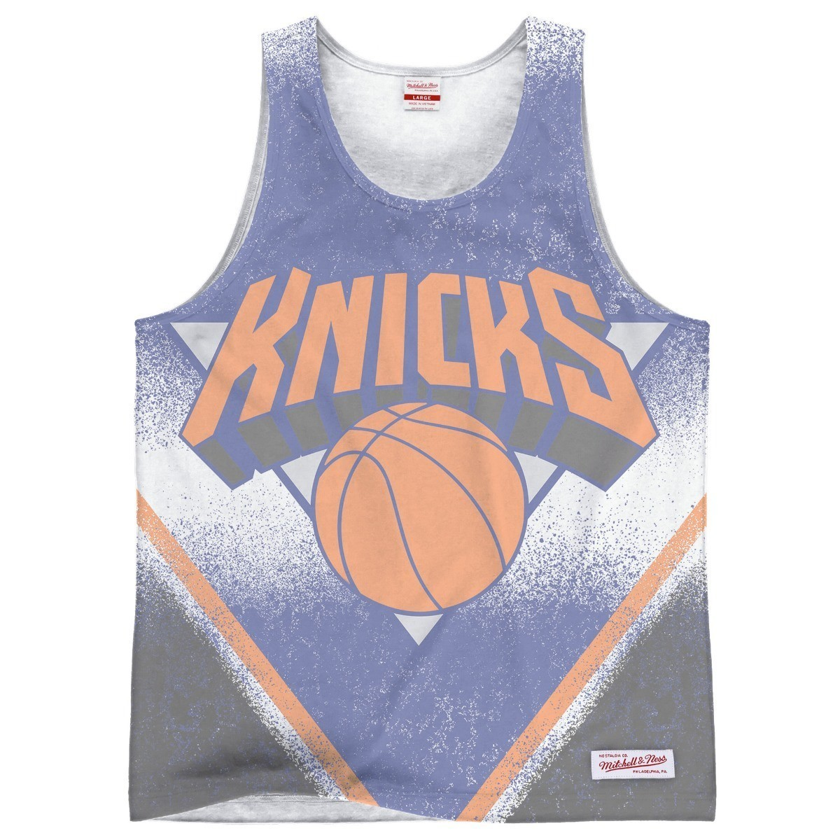"New York Knicks Mitchell & Ness NBA ""Clock Violation"" Color Fade Tank Top Shirt"