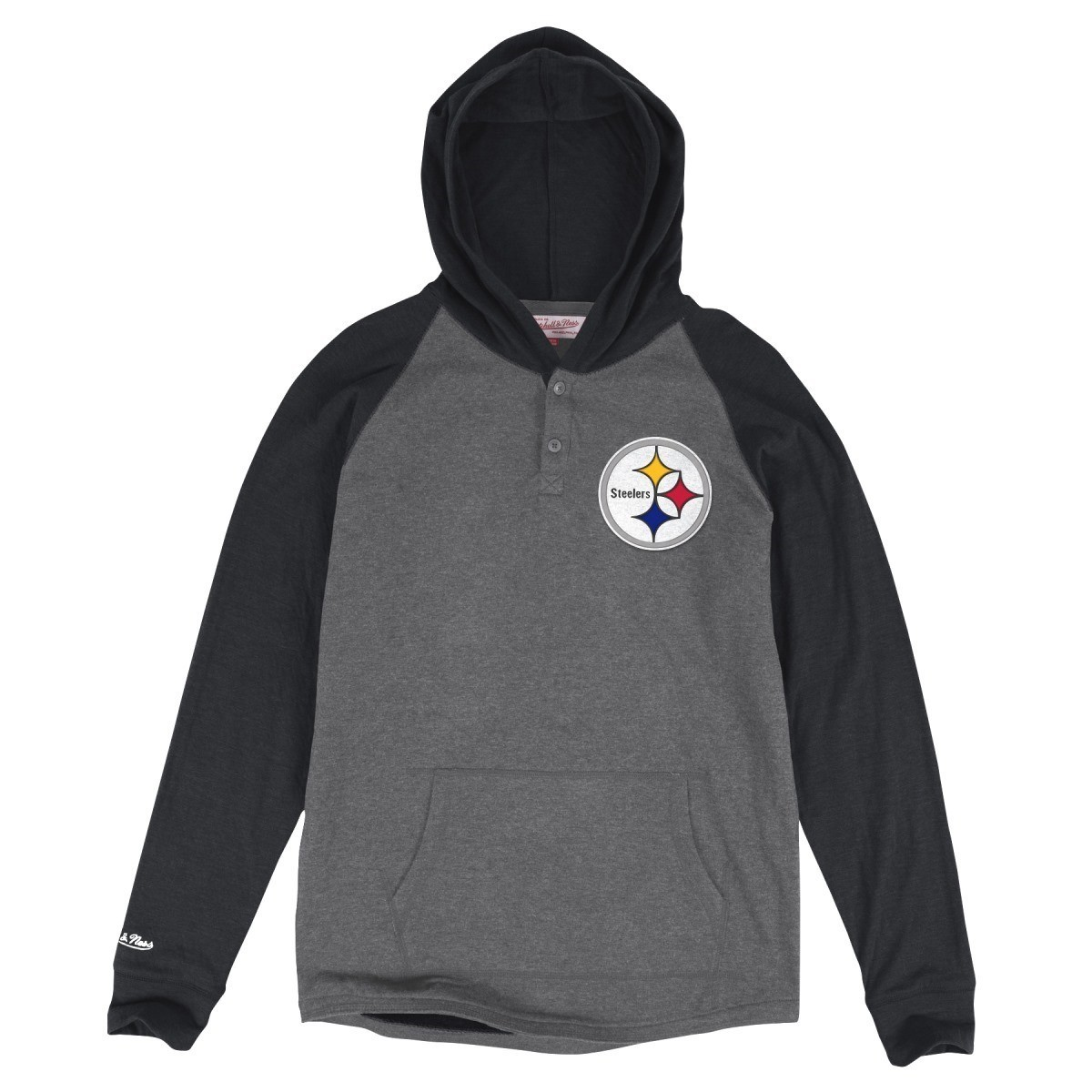 """Pittsburgh Steelers Mitchell & Ness NFL """"Home Stretch"""" Long Sleeve Hooded Shirt"""