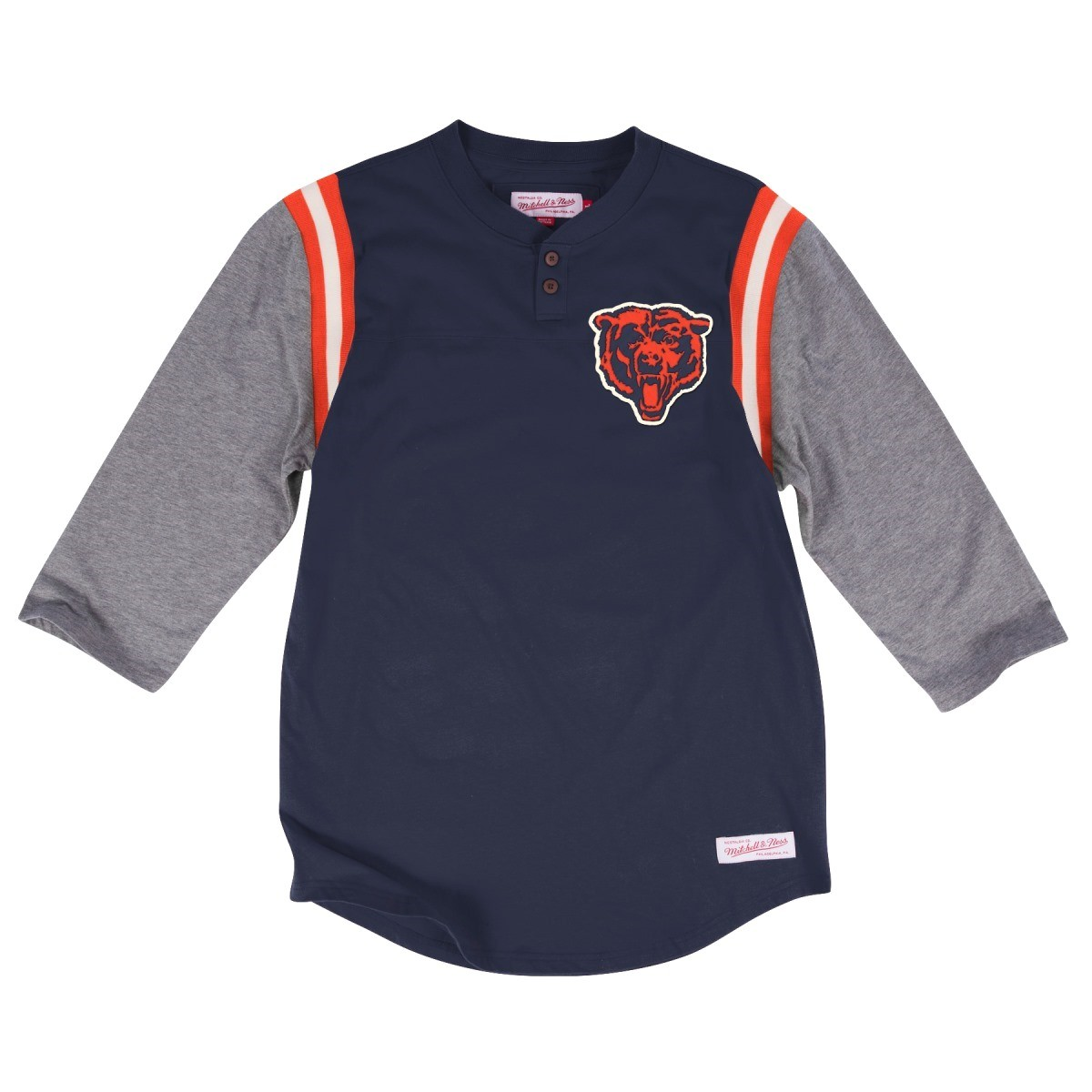 "Chicago Bears Mitchell & Ness NFL ""Rushing Play"" 3/4 Sleeve Henley Shirt"