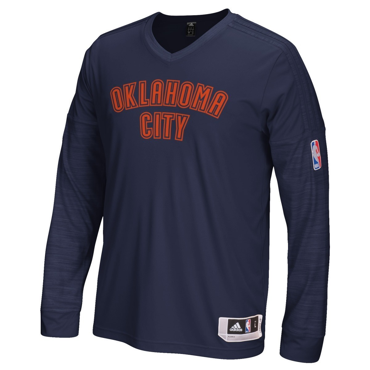 Oklahoma City Thunder Adidas 2015 NBA On-Court Authentic L/S Shooting Shirt