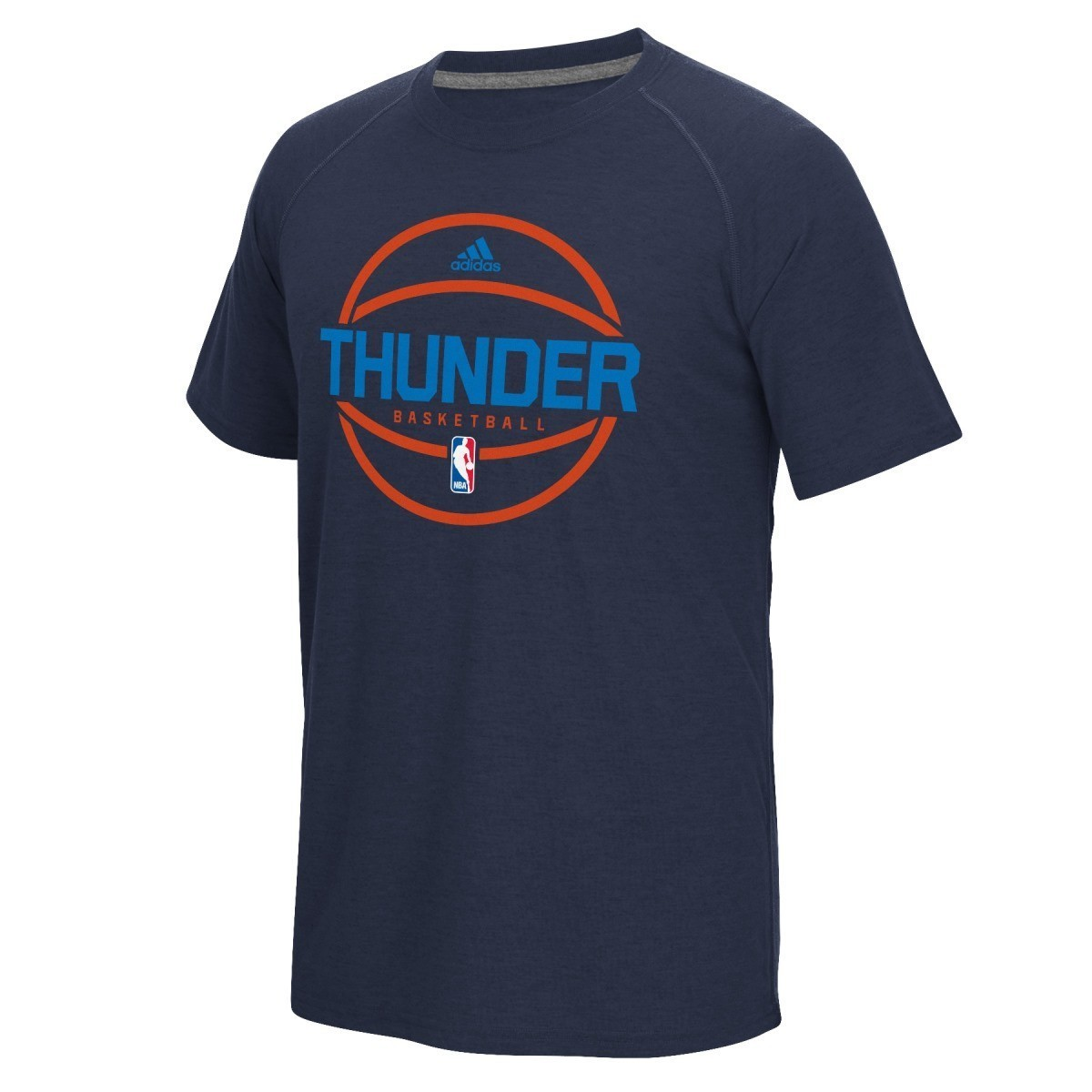 Oklahoma City Thunder Adidas New Ball On-Court Climalite Performance S/S T-Shirt