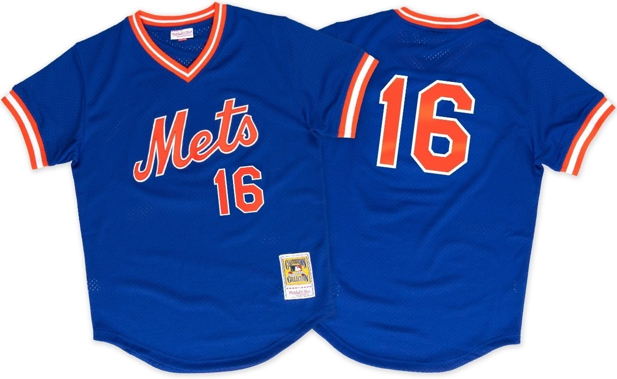 Dwight Gooden New York Mets Mitchell & Ness Authentic 1986 BP Jersey