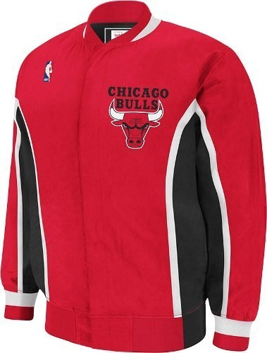 Chicago Bulls Mitchell & Ness NBA Authentic 92-93 Warmup Snap Front Premium Jacket