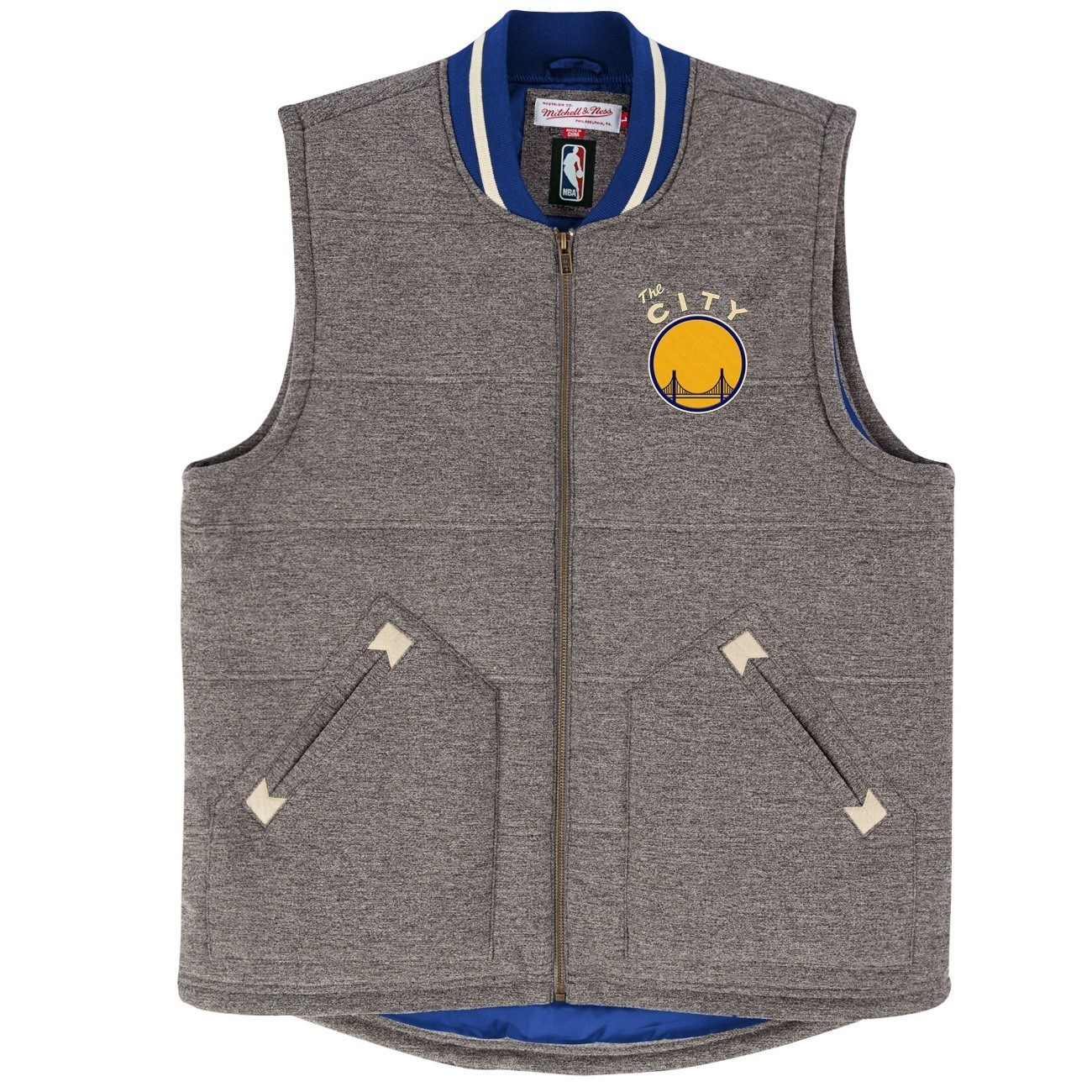 "Golden State Warriors Mitchell & Ness NBA ""Victory"" Throwback Vest Jacket"