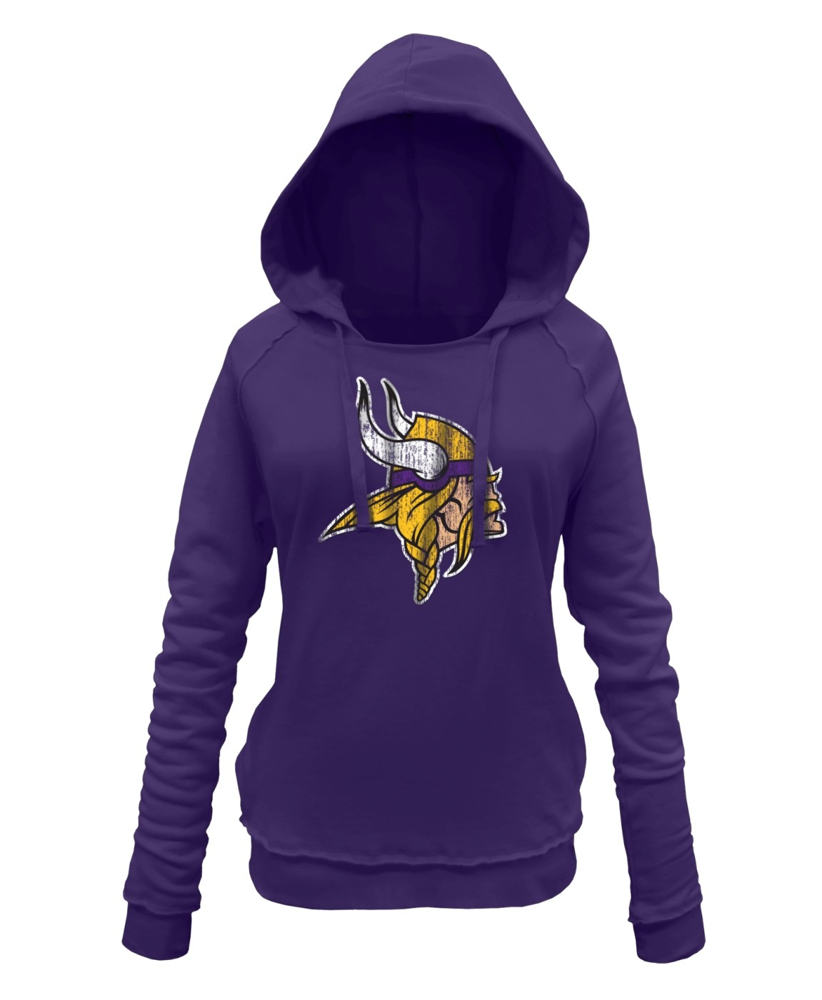 Top Minnesota Vikings Women's New Era NFL Post Route Pullover Hooded  for sale