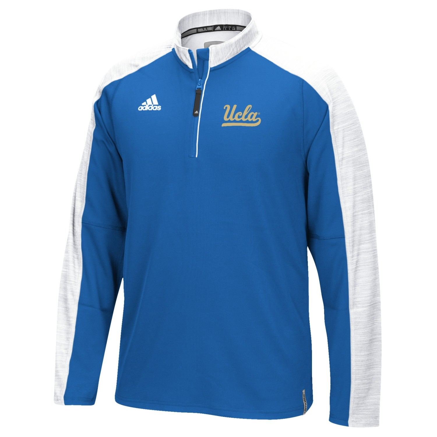 UCLA Bruins adidas 2016 Football Coaches 1//4 Zip Jacket White