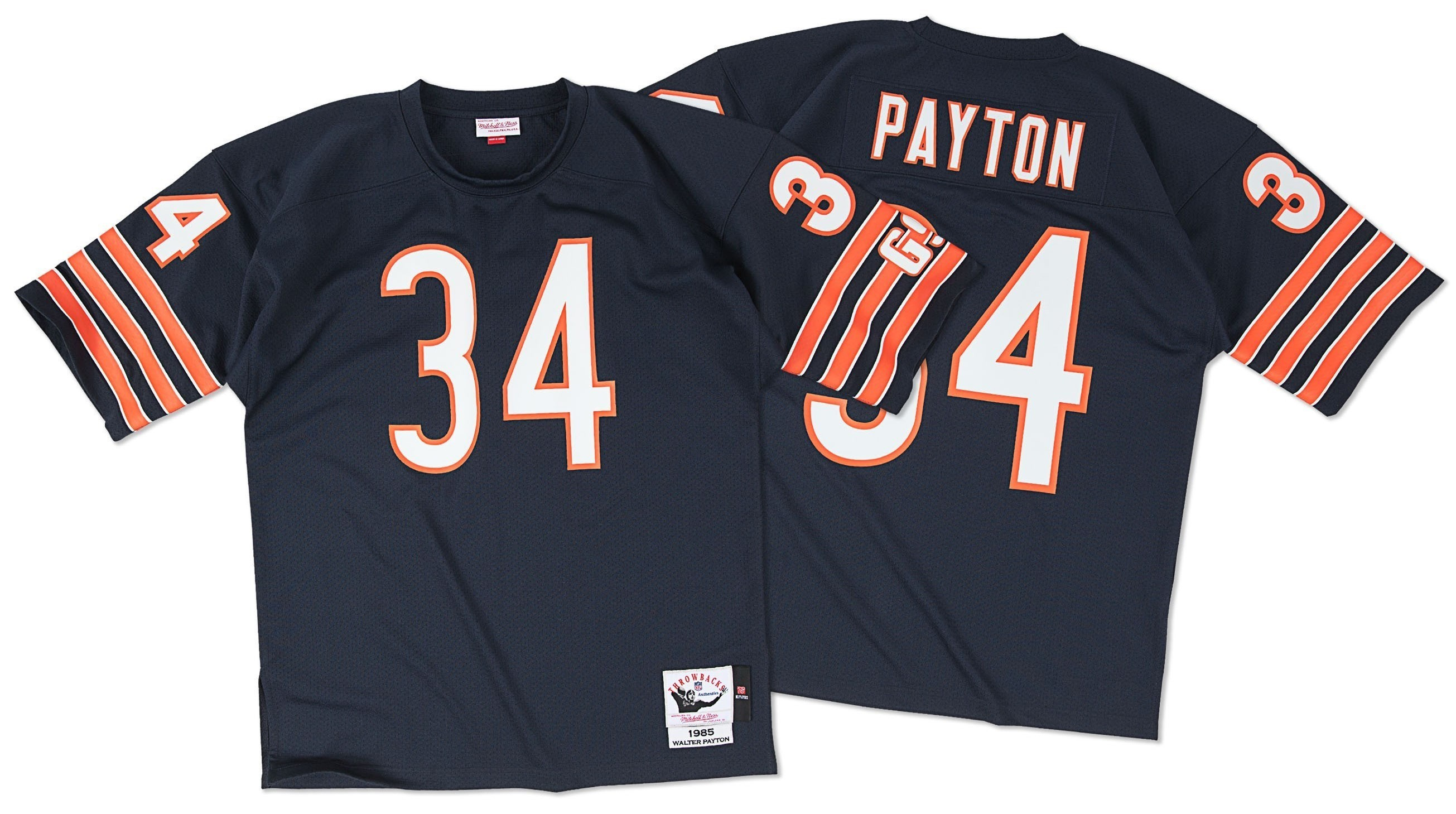 4904f400 Walter Payton Chicago Bears Mitchell & Ness Authentic 1985 Navy NFL Jersey