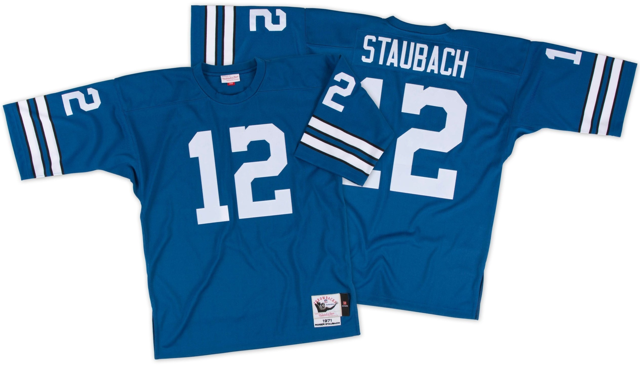6e5a9b51 Details about Roger Staubach Dallas Cowboys Mitchell & Ness Authentic 1971  Blue NFL Jersey