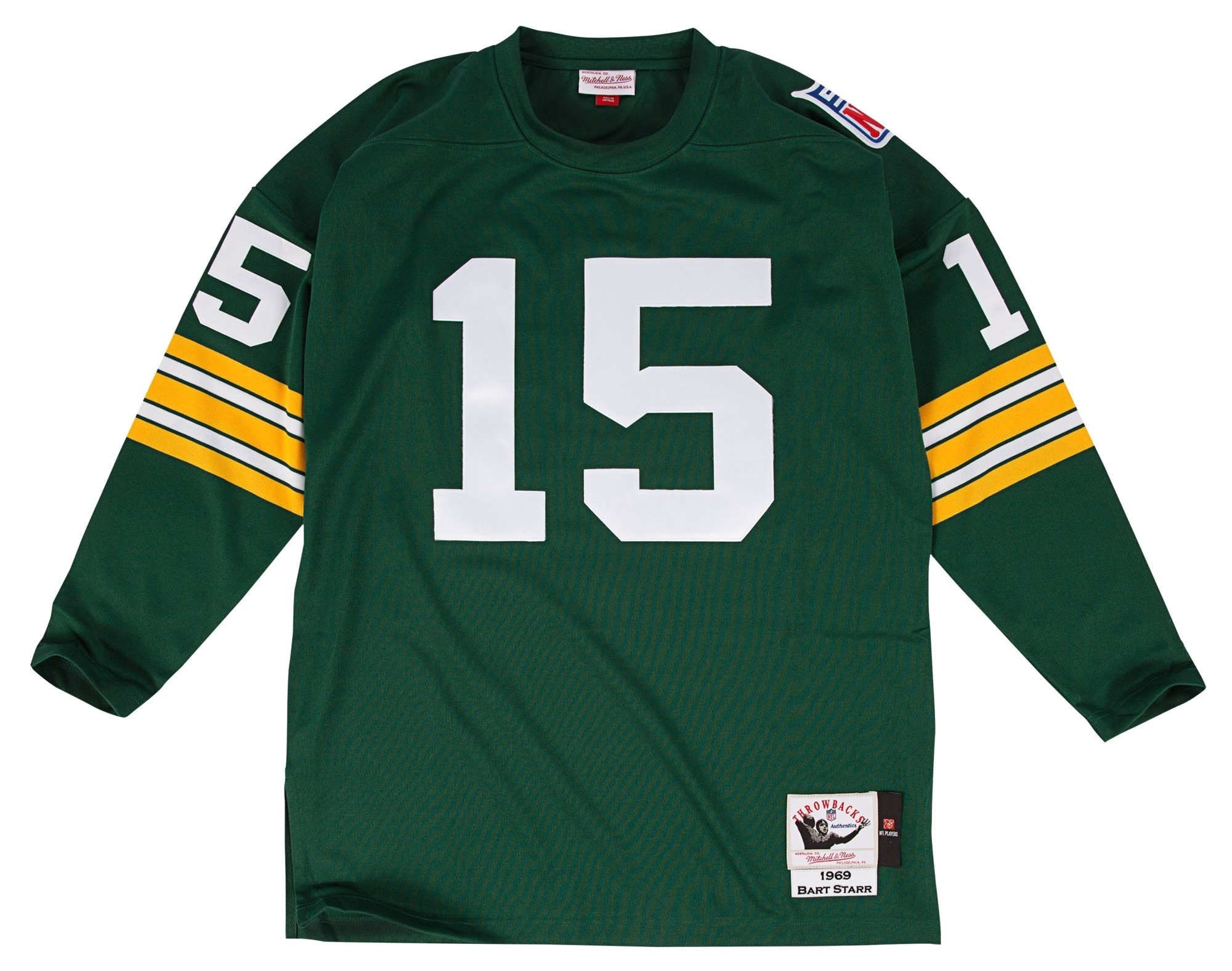 cc9ca7455 Details about Bart Starr Green Bay Packers Mitchell   Ness Authentic 1969  Green NFL Jersey