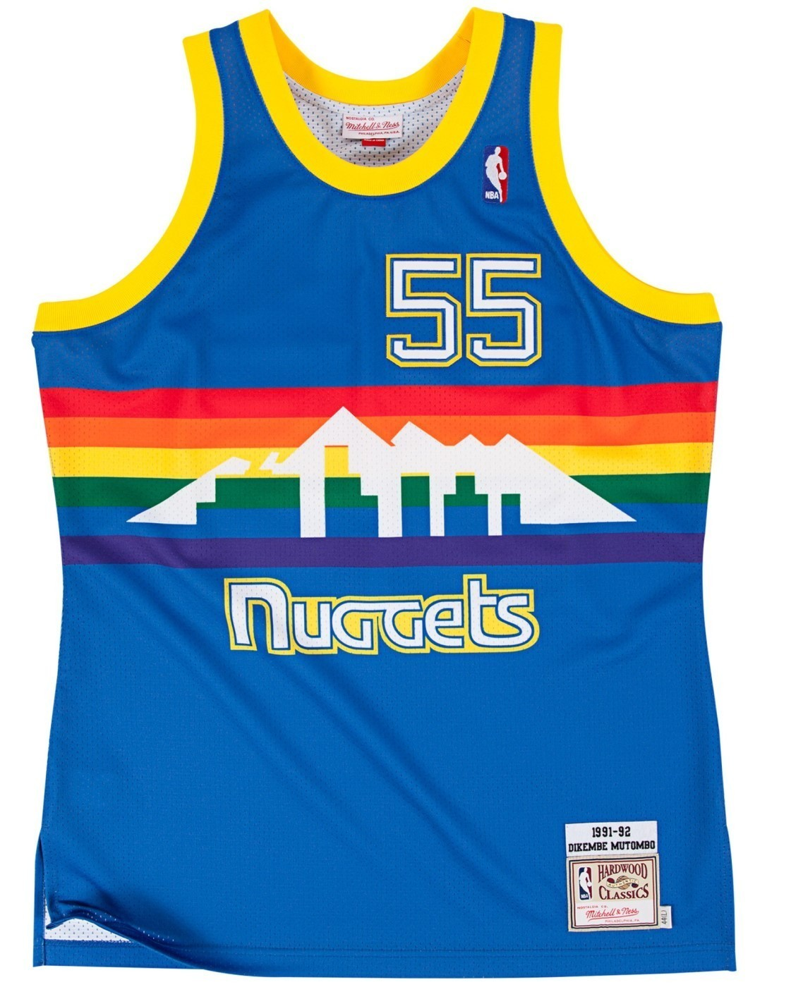 Dikembe Mutombo Denver Nuggets Mitchell & Ness Authentic