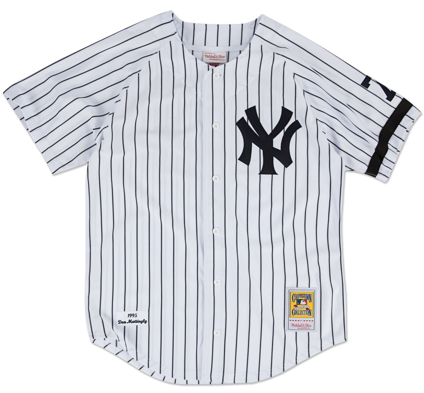 4d200aa24 ... buy don mattingly new york yankees mitchell ness authentic mlb 1995  home jersey 76f94 cc1e6