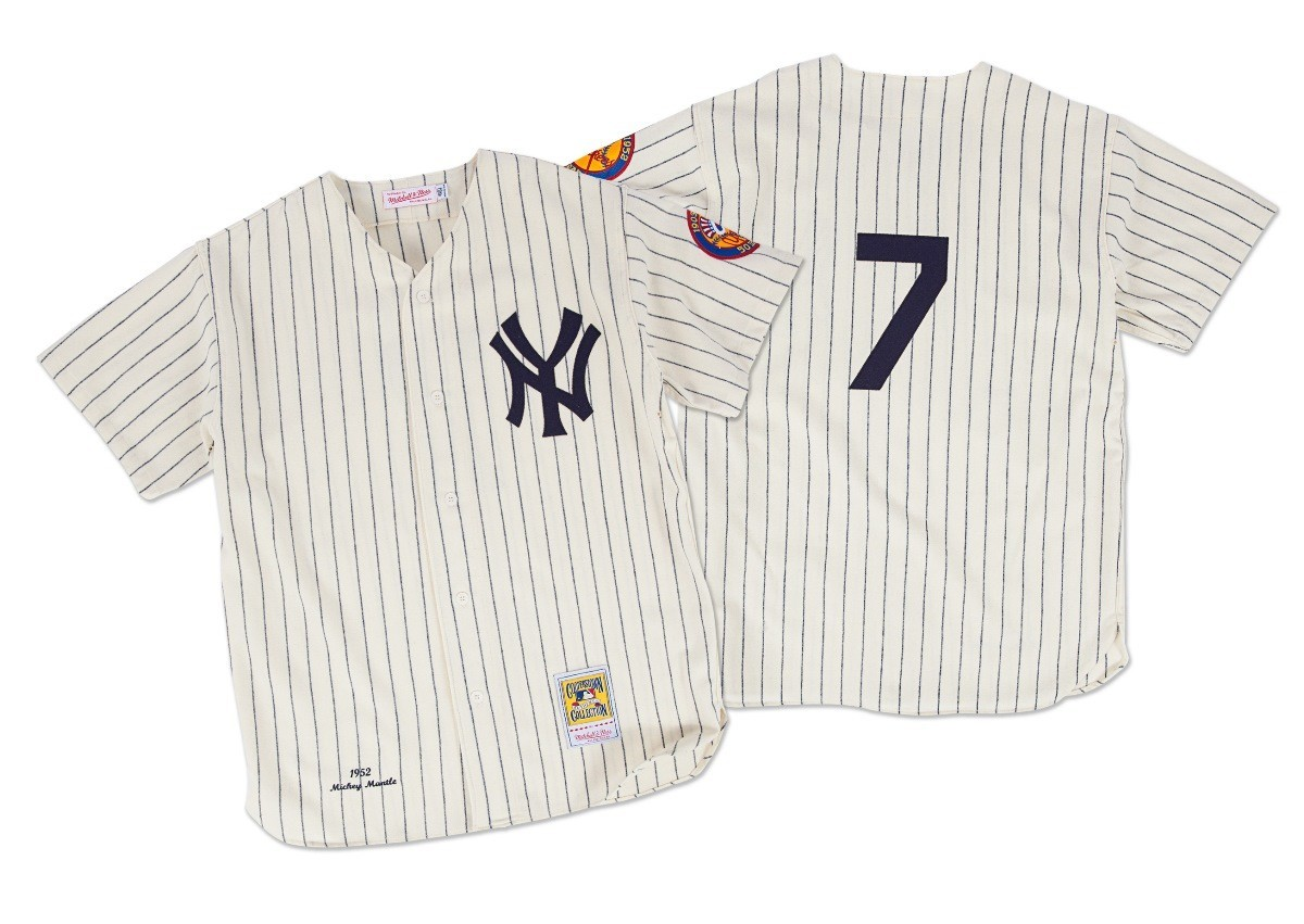 Mickey Mantle New York Yankees Mitchell & Ness Authentic 1952 Button Up Jersey